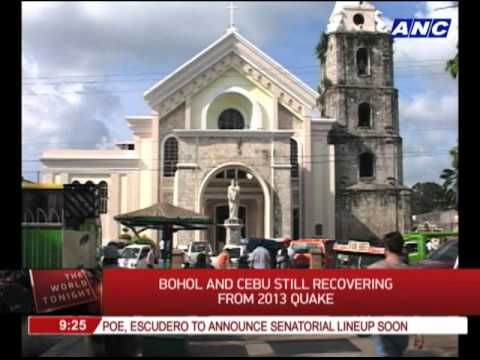Bohol, Cebu still recovering from 2013 quake