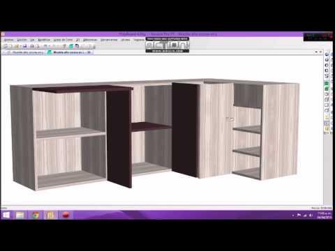 Polyboard proyecto mueble alto cocina en l youtube for Muebles de cocina en l