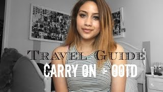 Travel Guide : Carry On Essentials + OOTD ♡