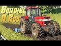 Building a Road! - Farming Simulator 19 -  Ep.1 (with Wheel Cam)