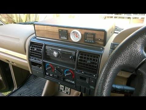 Land Rover Discovery 1 : DIY dash console