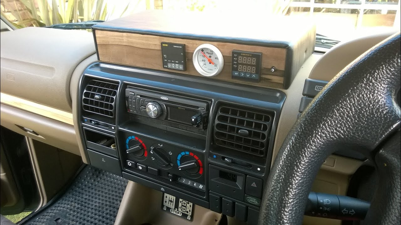 Land Rover Discovery 1 Diy Dash Console Youtube
