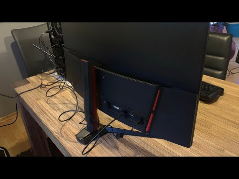 "MSI Full HD Gaming Red LED Non-Glare Super Narrow FreeSync 32"" Curved Unboxing And Instructions"
