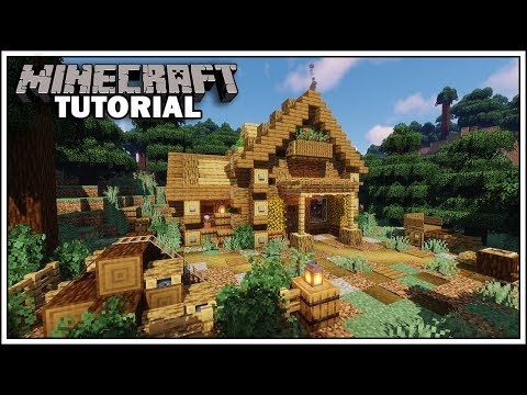 Minecraft: How To Build A Log Cabin Tutorial