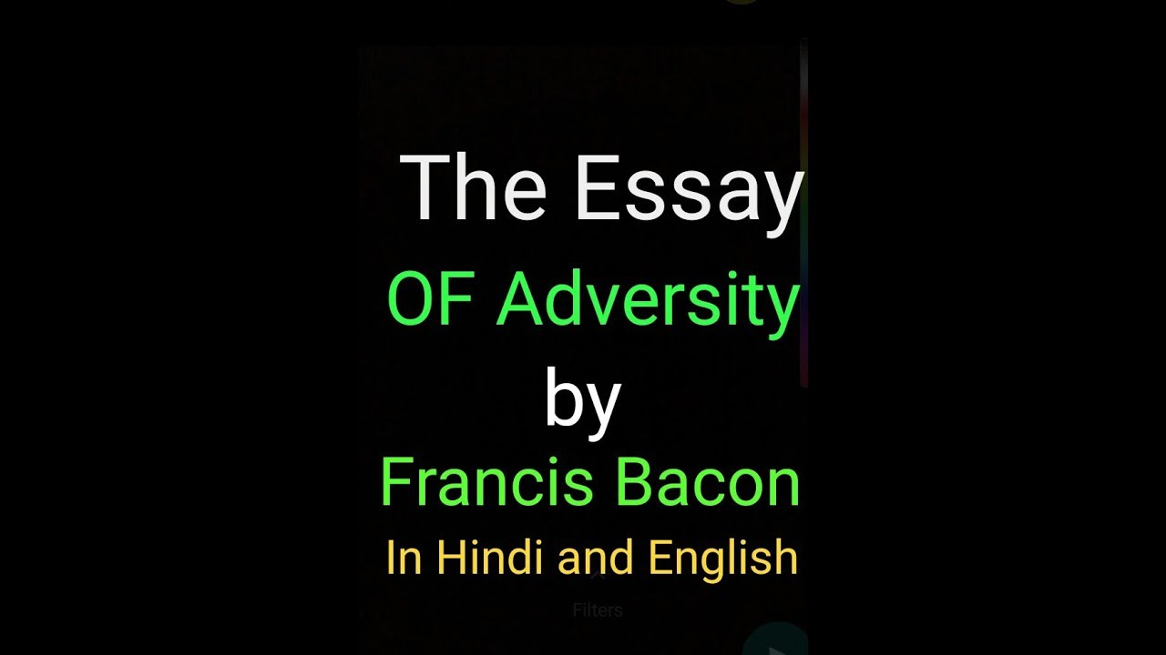 summary of bacons essay of adversity