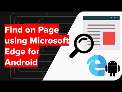 How to Search and Find on Page in Microsoft Edge Android?
