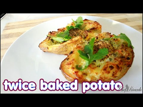 Twice Baked Potato With Veg On Cheese Egg On Top | Recipes By Chef Ricardo
