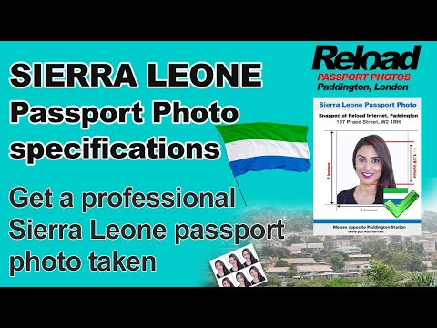 Sierra Leone Passport Photo requirements and Visa Photos snapped in Paddington, London