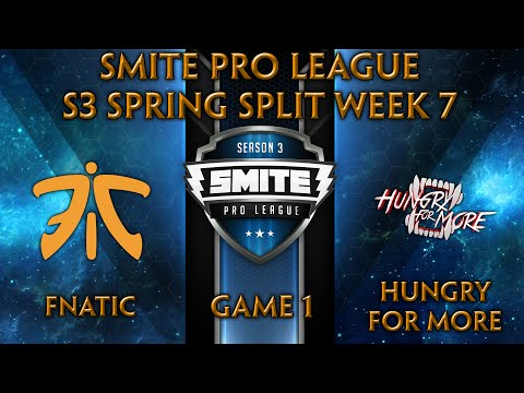 SPL S3 Spring: Week 7 - FNATIC vs. Hungry For More (Game 1)