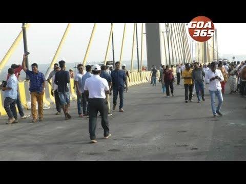 Walk on 3rd Mandovi bridge from 26 Jan, open for traffic from 29 Jan