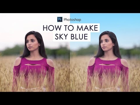 How To Change White Sky To Blue In Photoshop - Replace Blown Out Sky In A Photo