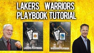 Lakers/Warriors Playbook Tutorial! NBA 2K18