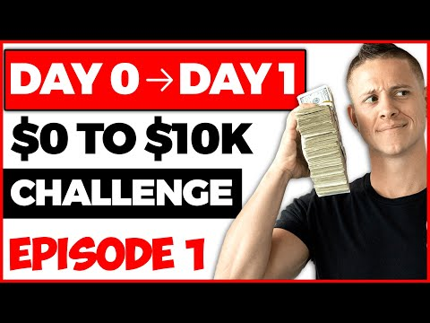 I Tried Turning $0 into $10,000 Make Money Online Challenge (Part 1) | Kevin David