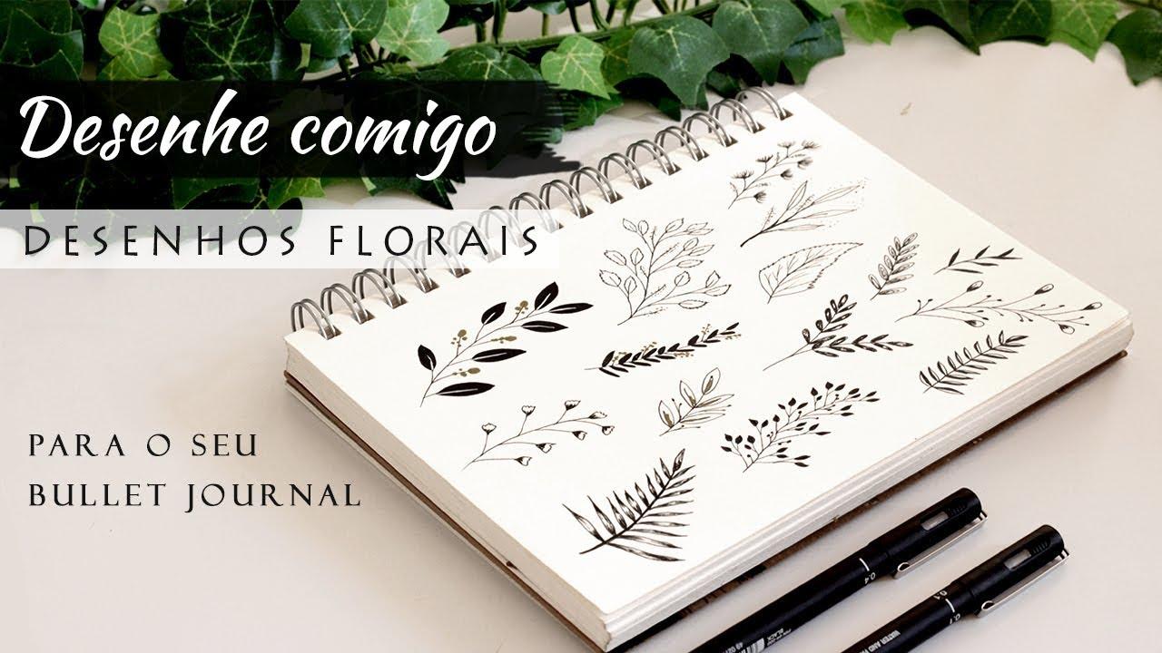 Como Fazer Desenhos Florais Para O Seu Bullet Journal