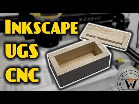 CNC Box made with Inkscape and X-Carve - Waylight Creations
