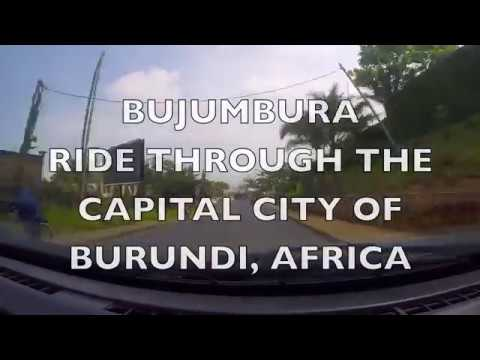 BUJUMBURA - driving through the capital city of Burundi Africa
