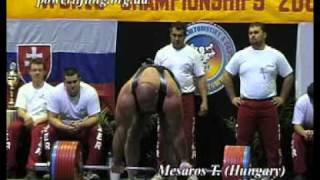 meszaros dl 407 5kg 125 world record powerlifting ipf world championship 2002
