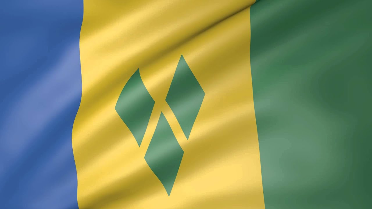 Animated Flag of St  Vincent and the Grenadines