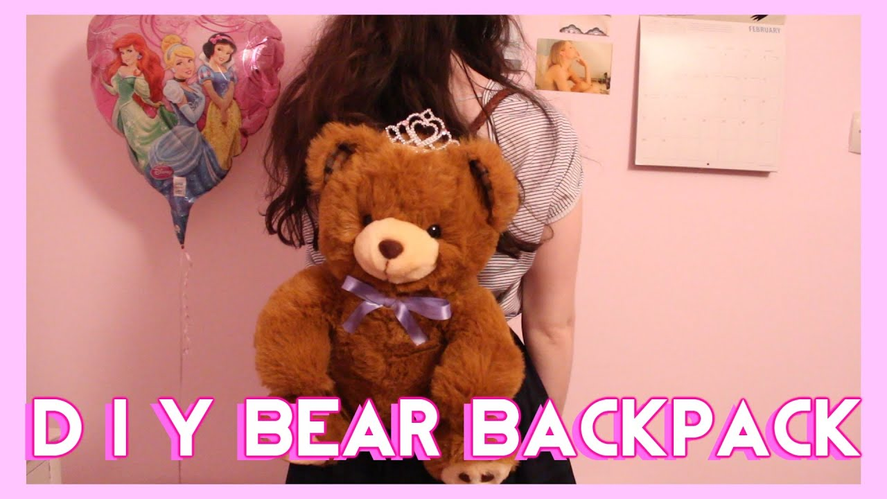 Diy Teddy Bear Backpack Neato For Ur Valentine Youtube
