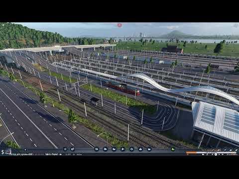 Transport Fever 2 Стройка жд станций #9 Мегапорт