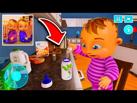 Real Mother Life Simulator- Twins Baby Care Games 2021 [Part 1] Gameplay - Walkthrough