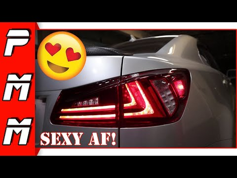 Giving the ISF a sexy new look with Vland LED Tail Lights! Lexus IS250 IS350 ISF