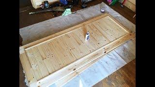 как сделать красивую деревянную дверь