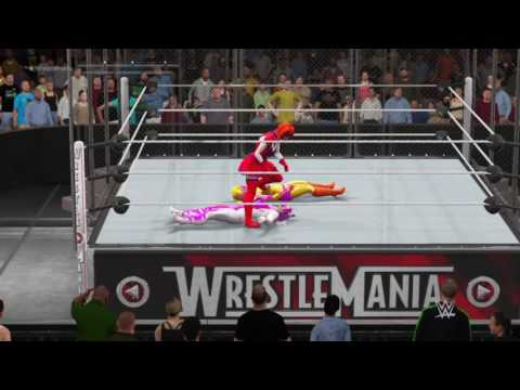 WWE 2K17: Circus Baby VS Toy Chica VS Funtime Foxy