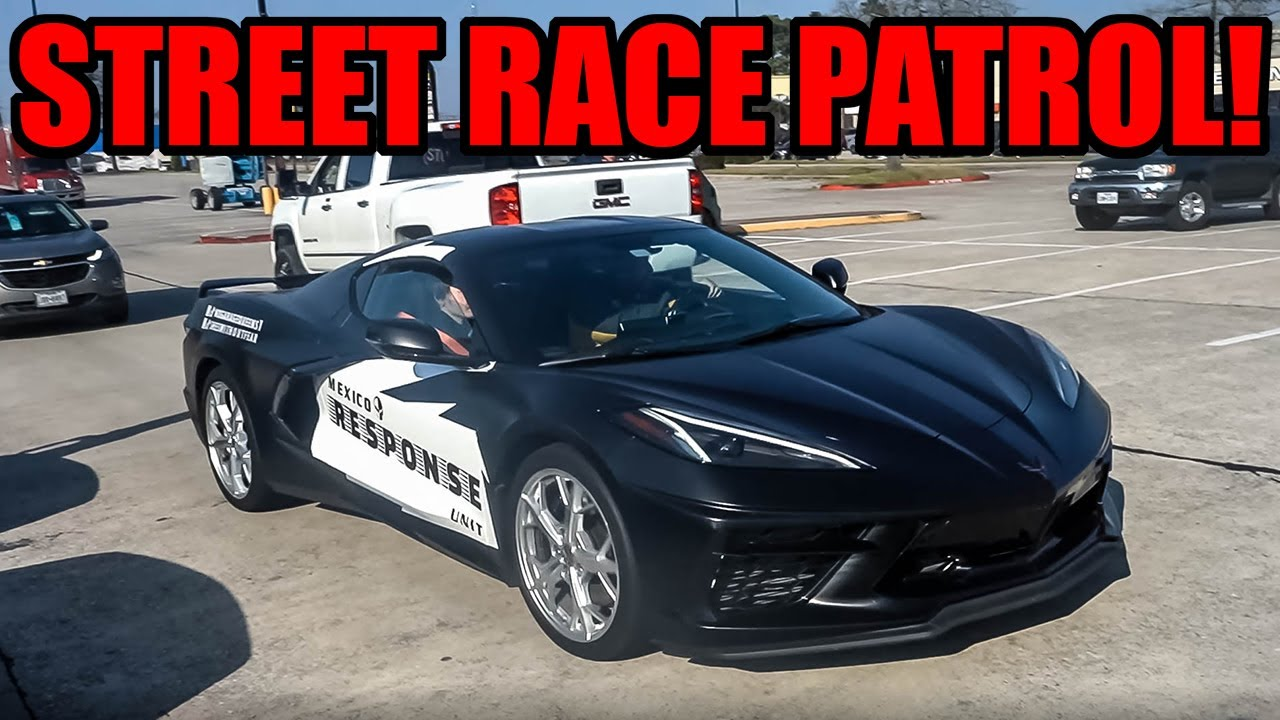 MEXICO STREET RACE PATROL C8 CORVETTE Shows Up to Car Meet!