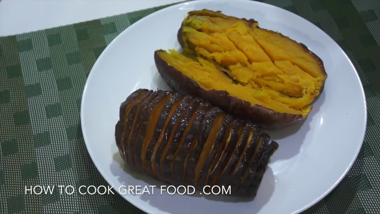 What temperature do you cook sweet potatoes at in the oven