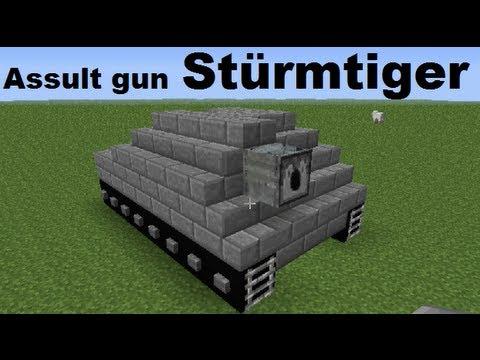 Minecraft vehicles ◙ Stürmtiger 380mm Assult gun (eng subs)