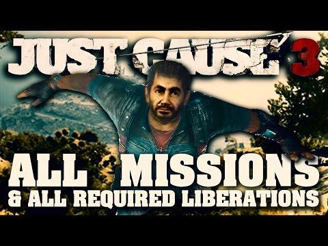 Just Cause 3 - All Missions Marathon - Full Game Walkthrough (1080p 60fps)