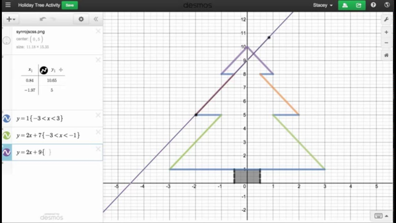 Desmos holiday tree youtube