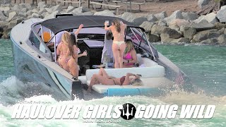 HAULOVER INLET | GIRLS GOING WILD AND IT'S NOT THE RIVER | BONUS AT MINUTE 4