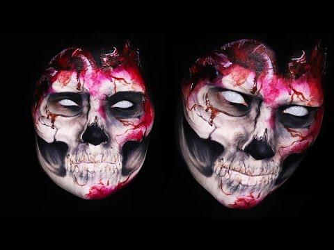 Evil Skull Heart Makeup Tutorial