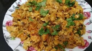 मुंबई की स्पेशल अंडा भुर्जी   Egg Bhurji   How To Make Anda Bhurji - by Kirti