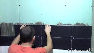 видео Как класть плитку на гипсокартон?