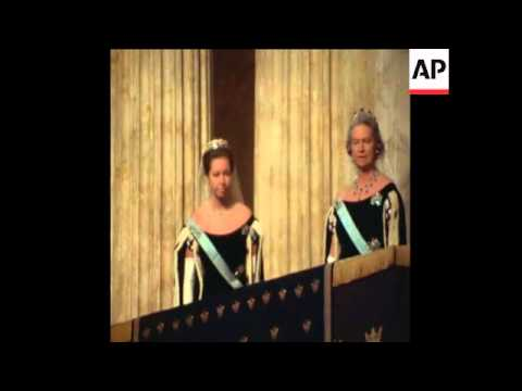 SYND 12/01/71 KING GUSTAV VI OPENS NEW PARLIAMENT
