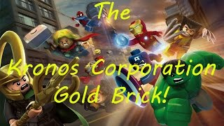 LEGO Marvel Super Heroes :The Kronos Corporation Gold Brick!