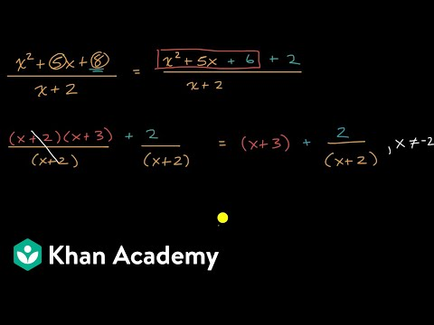 Polynomial division with remainders