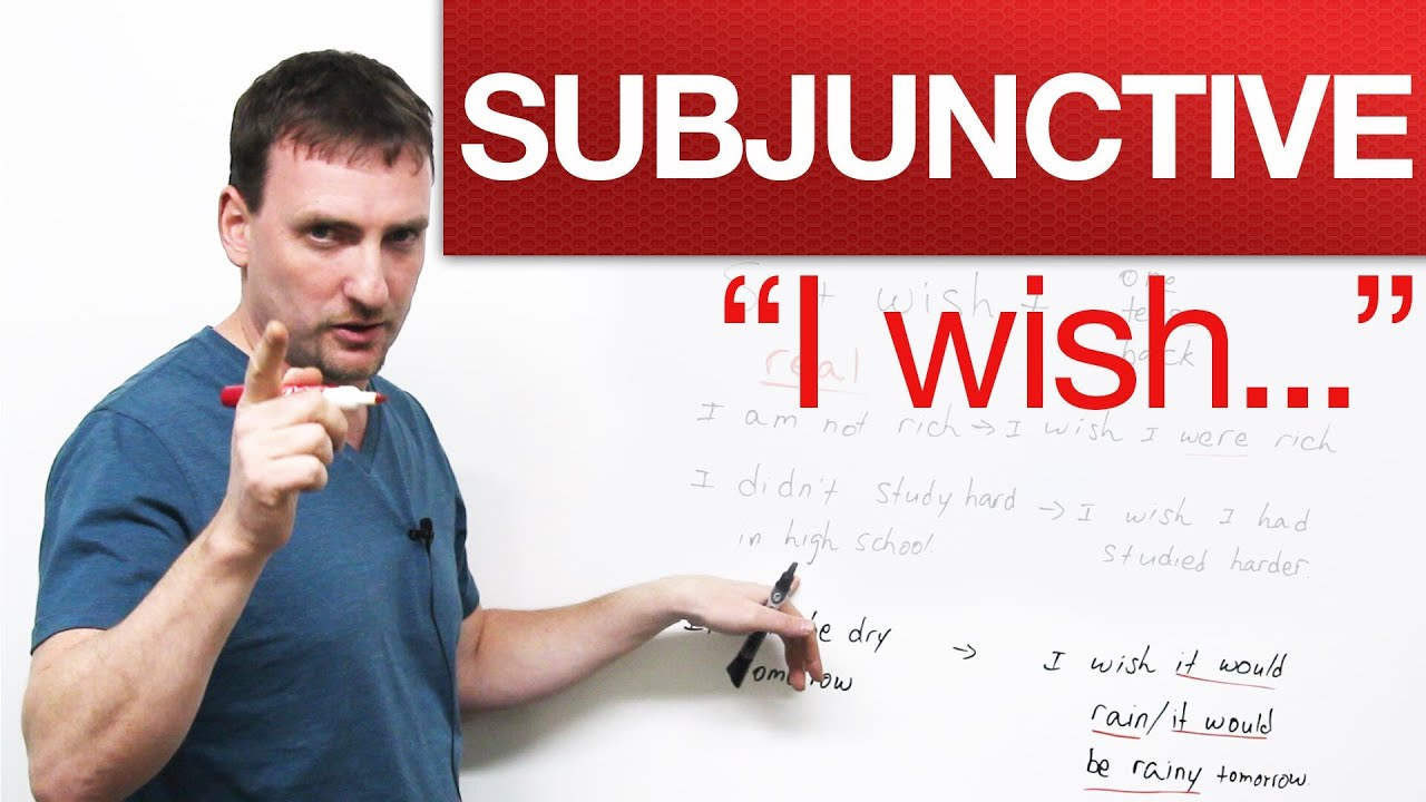 the subjunctive Although uses for the subjunctive mood in english are rare, they are difficult enough to make a grown man cry you can form subjunctives with were, had, if and even as though.