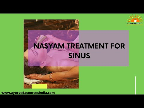 Nasyam treatment for Sinus | Ayurveda Courses India | Kayakalp
