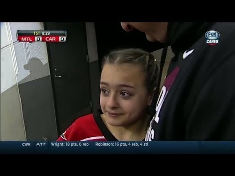 Soldier surprises daughter at 'Canes game