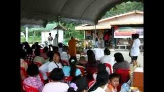 LP Kaew Blessing Devotees Outside His Kuti