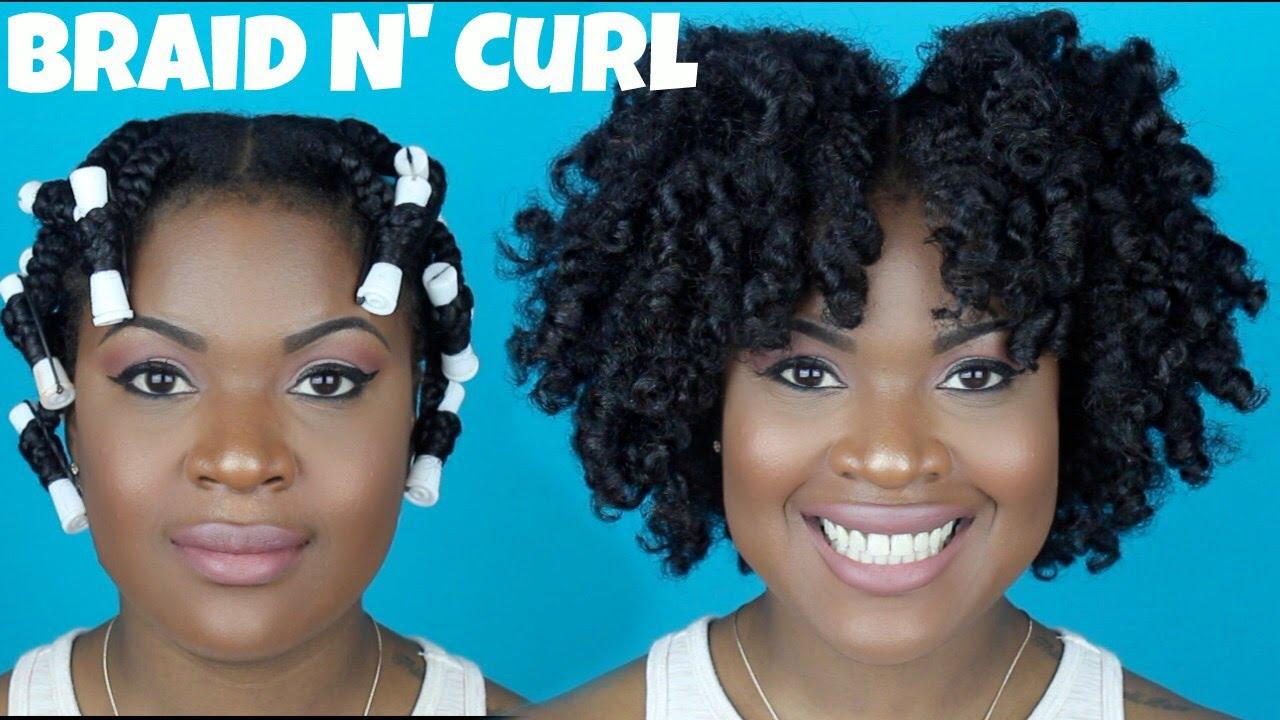 Braid And Curl On Thick Natural Hair 4a4b 4c Friendly