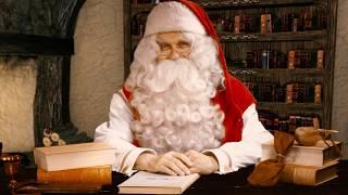 Message du Père Noël aux enfants Papa Noël Laponie Finlande souhaite Joyeux Noël message Santa Claus