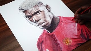 Pogba Pen Drawing - Manchester United - DeMoose Art