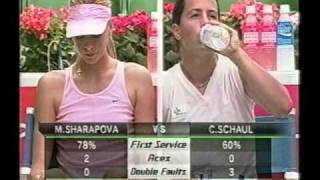 Maria Sharapova vs Claudine Schaul Tokyo 2003 QF Part 2