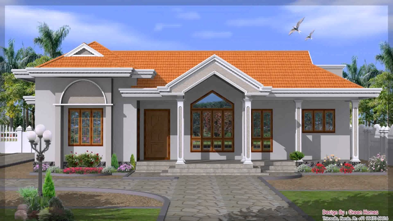 Single Story House Plans Indian Style Youtube
