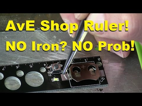 AvE Shop Ruler: AKA How to Solder WITHOUT a Sodding Iron!